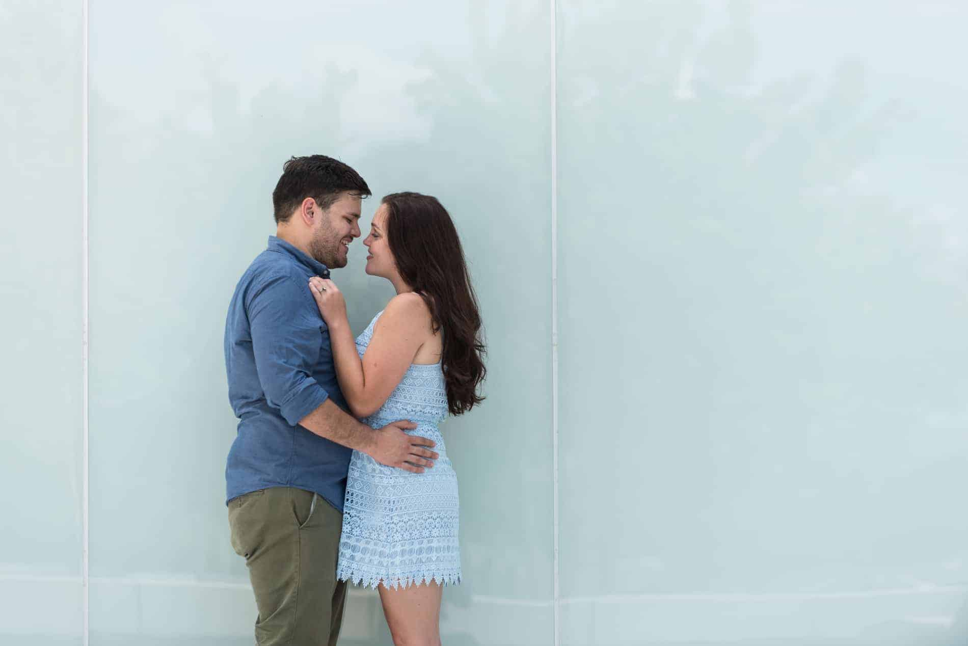 Pictures in Downtown Tampa for their Engagement
