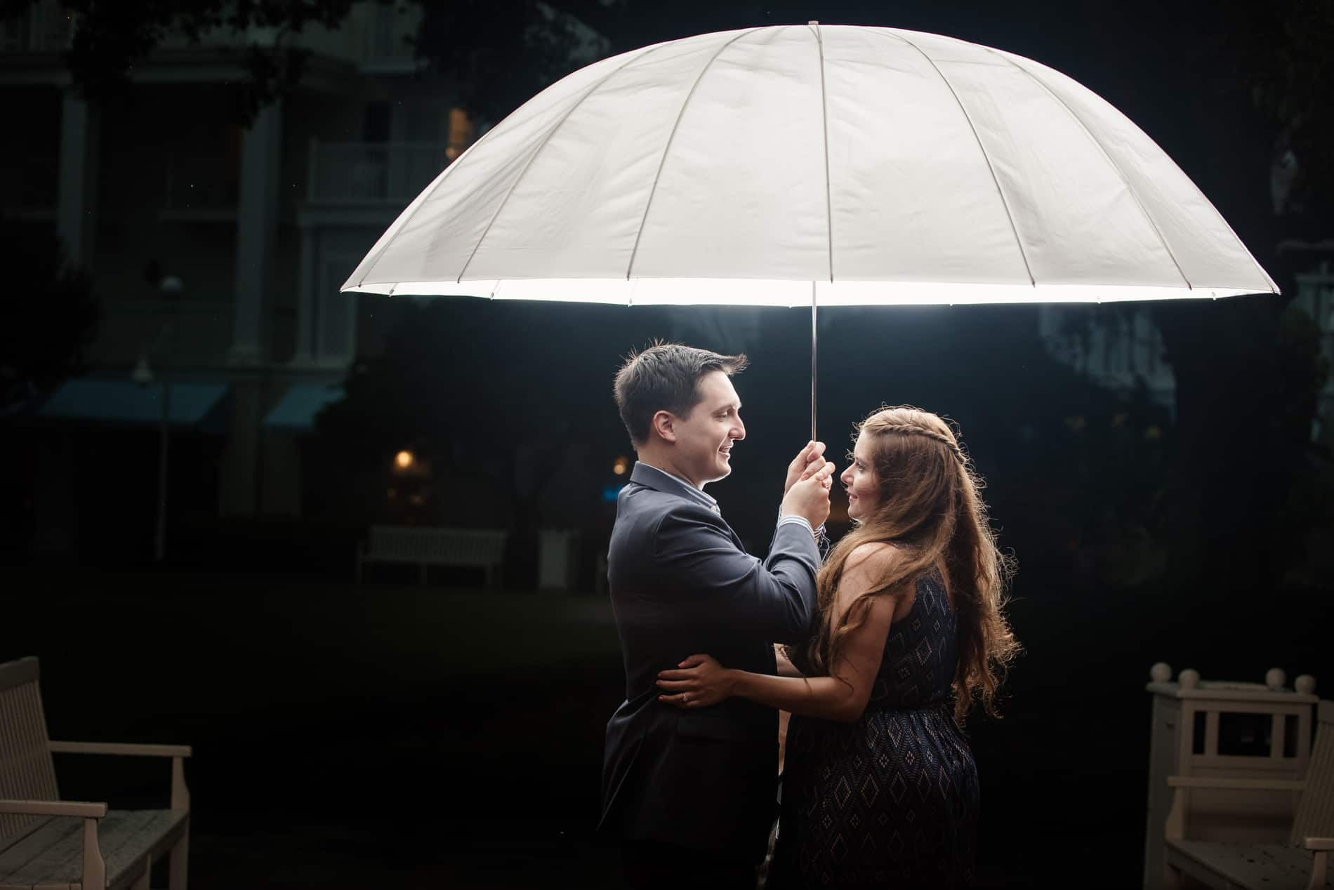 Rainy Day Engagement Photos