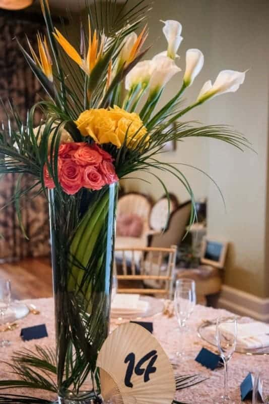 The Floral Design was provided by Andie Muller. She is the Owner of The Flower Studio.