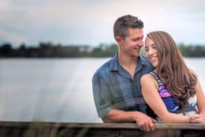 Baldwin Park Engagement Session on the water
