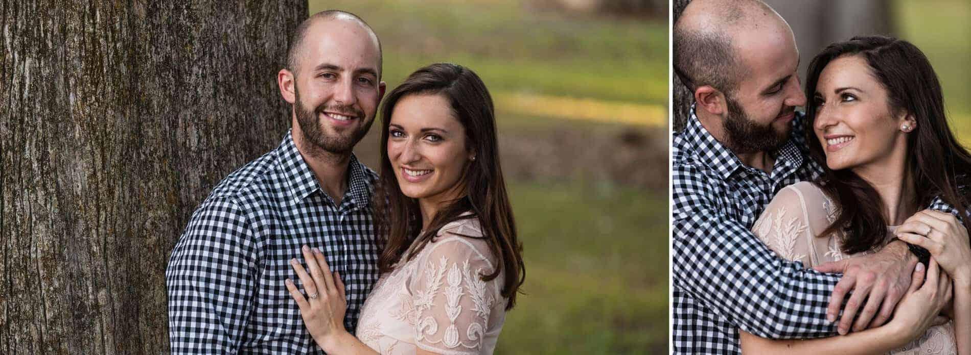 Engaged couple at Kraft Azalea Park