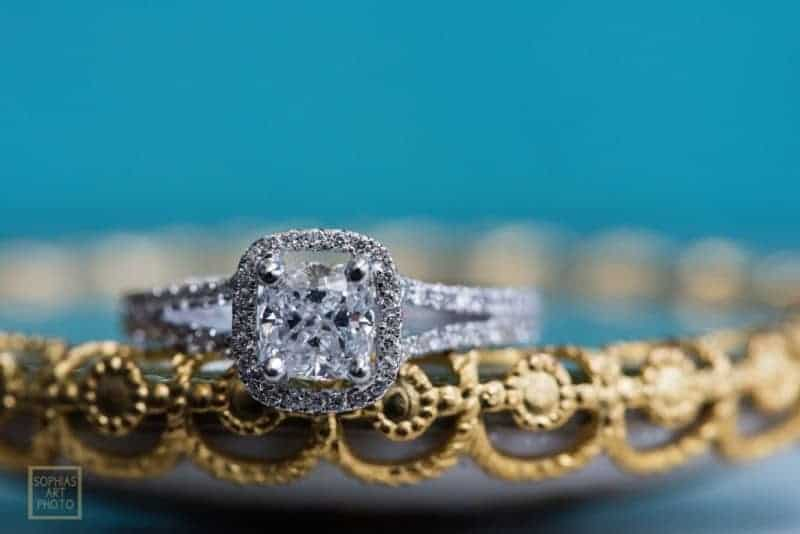 Brides Rings at Citrus Club Wedding