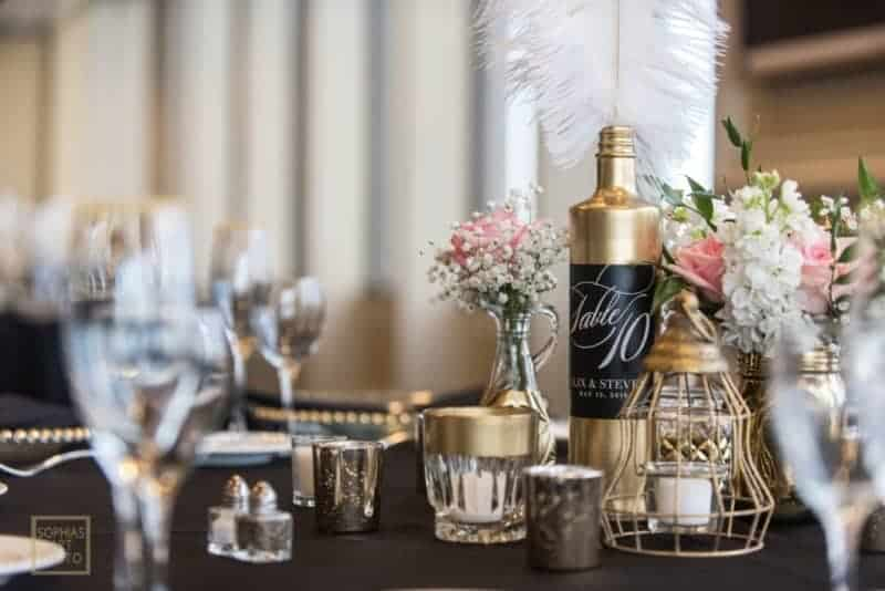 Top Citrus Club Wedding Table Details