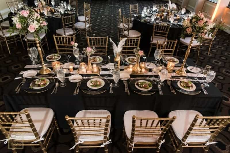 Citrus Club Wedding Tables