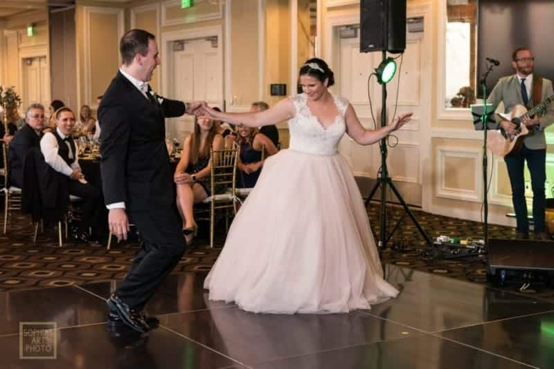 Bride and Groom first dance at Citrus Club Wedding
