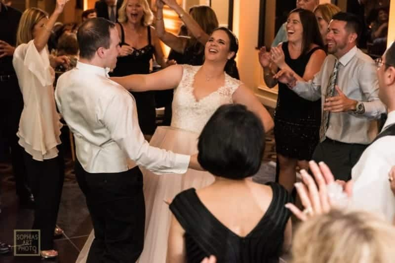 Bride and Groom dancing at Citrus Club Wedding