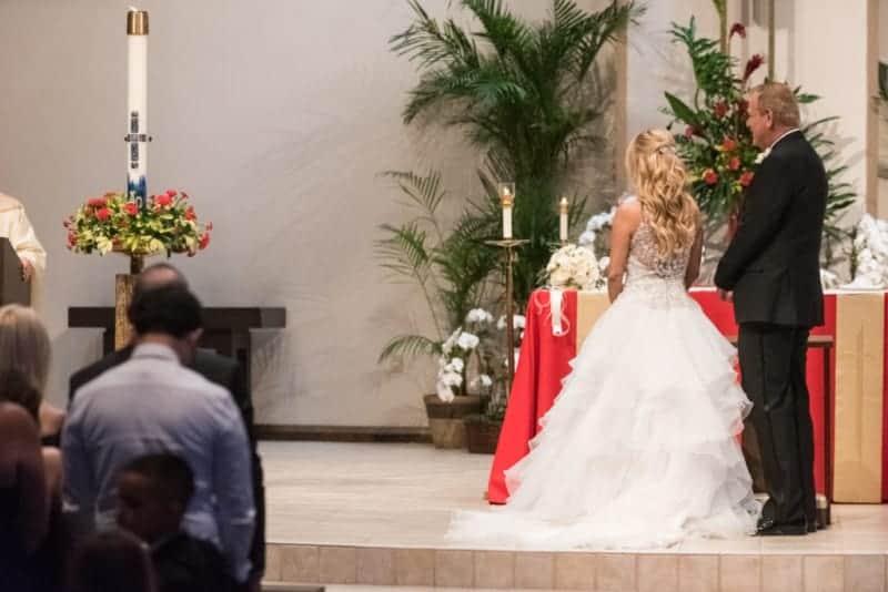 Couple at St Margaret Mary Catholic Church