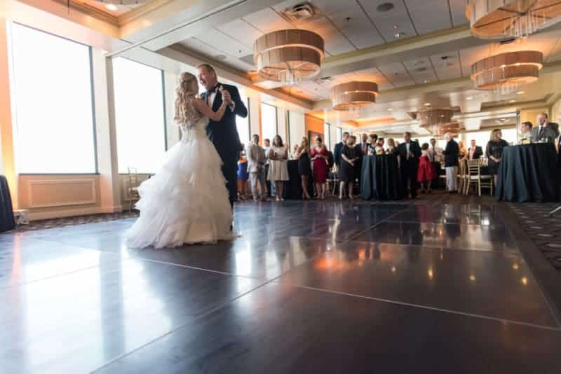 Bride and Groom having a first dance at a Citrus Club Wedding