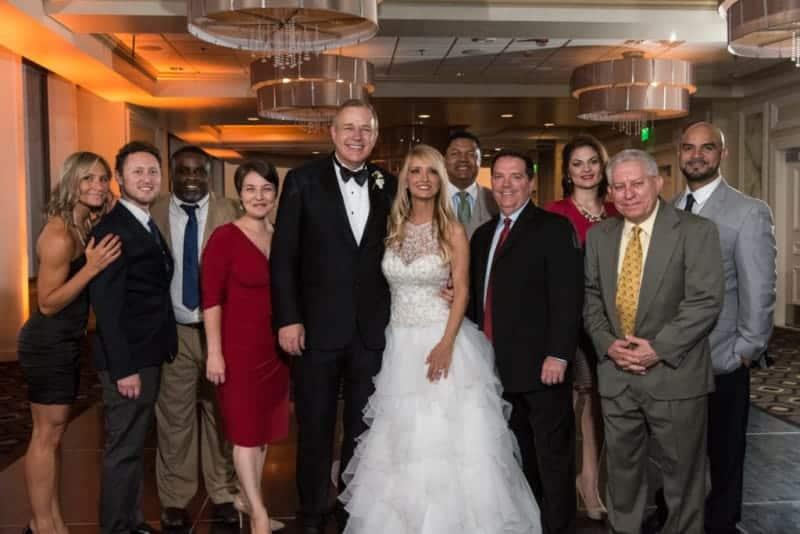 Group Photo at a Citrus Club Wedding