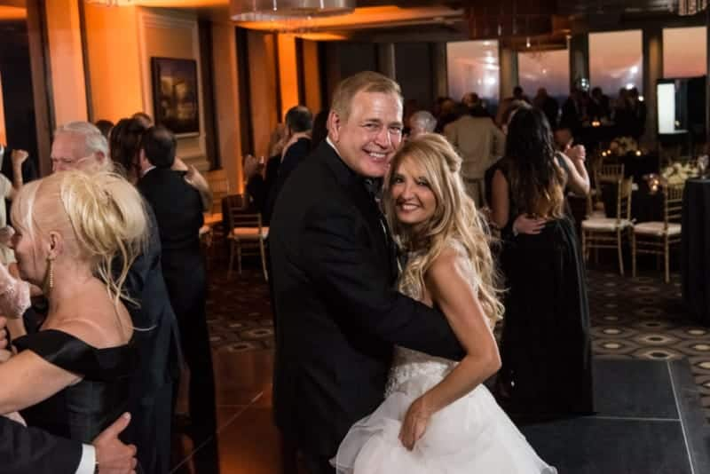 The happy Couple having a first dance at a Citrus Club Wedding