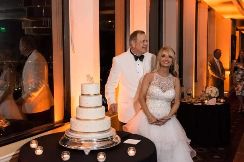 Cutting the Cake at a Citrus Club Wedding Photos