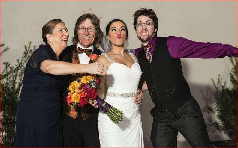 bride-and -family-at-her-rock-n-roll-wedding-at-garden-theater-winter-garden