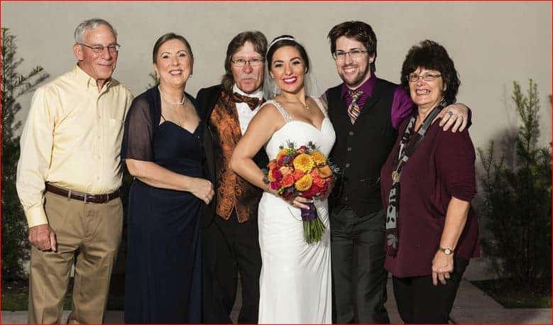 bride-and-family-at-her-rock-n-roll-wedding-at-garden-theater-winter-garden
