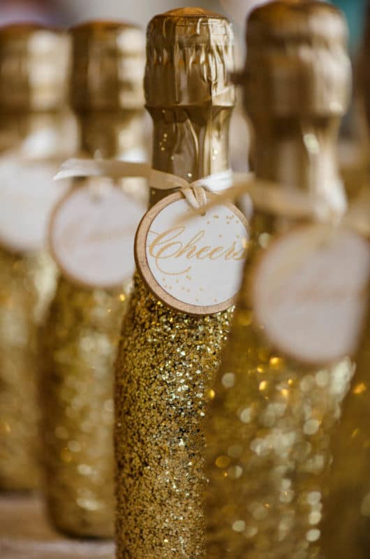 Festive details during a Citrus Club Wedding