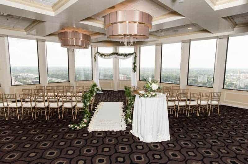 Ceremony Setup for Citrus Club Weddings