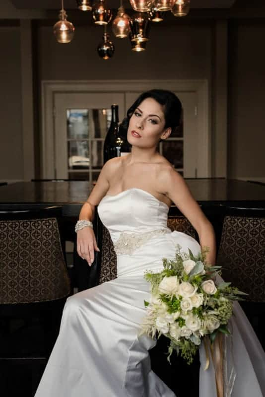 Bride in private room at Citrus Club Wedding