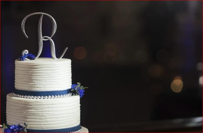 Best Wedding Cake at a Evening Citrus Club Wedding Reception