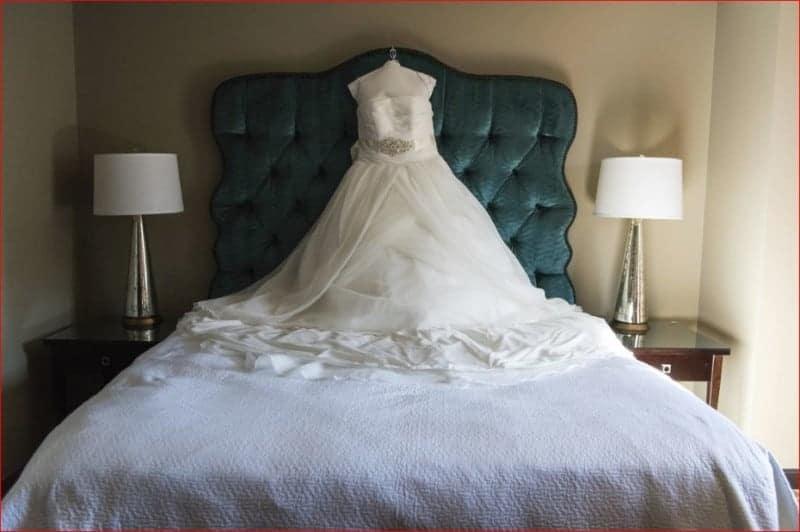 Wedding Dress before for a Citrus Club Wedding