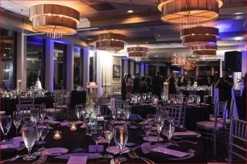 Evening Citrus Club Wedding Reception