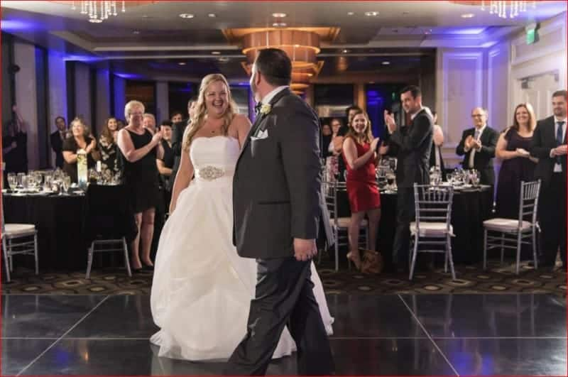 First Dance at a Evening Citrus Club Wedding Reception