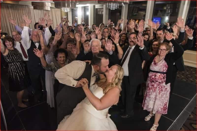 Last Dance at a Evening Citrus Club Wedding Reception