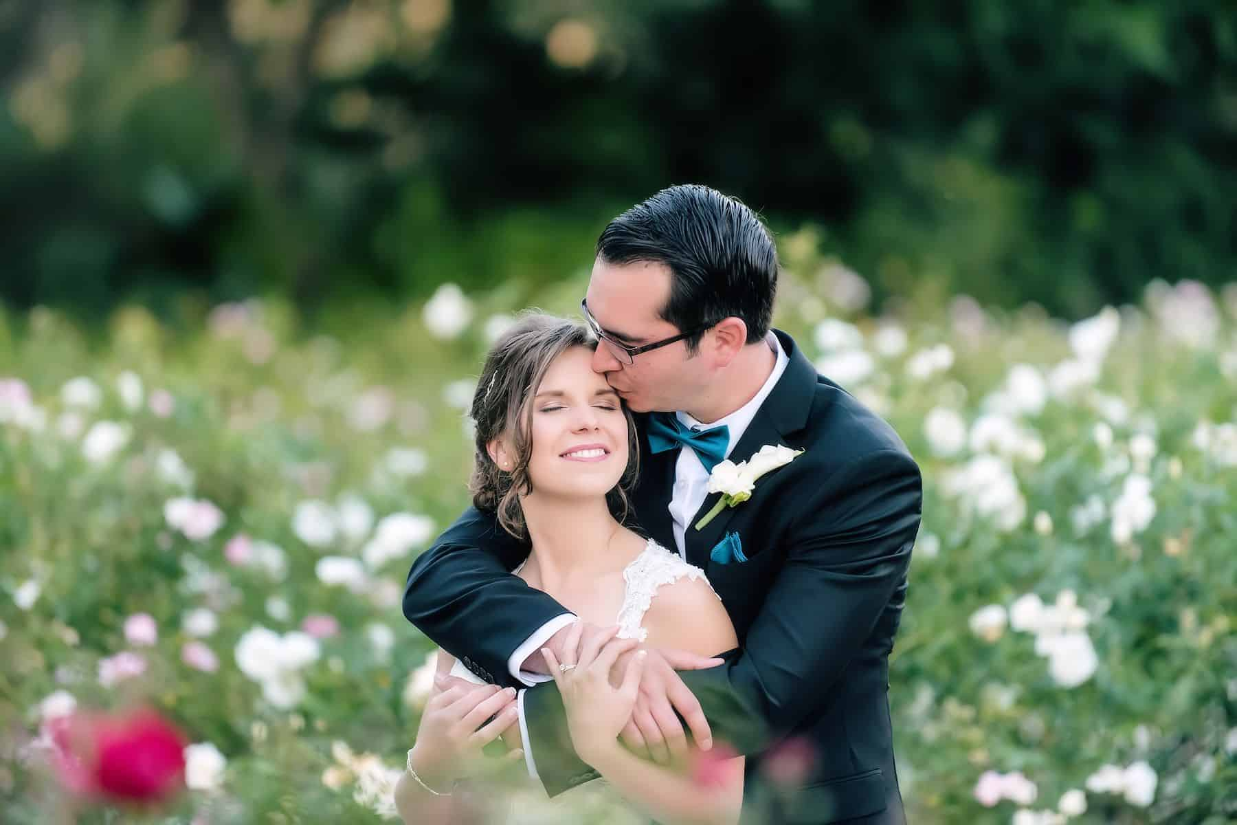 Couples Spotlight among the roses in Orlando Florida