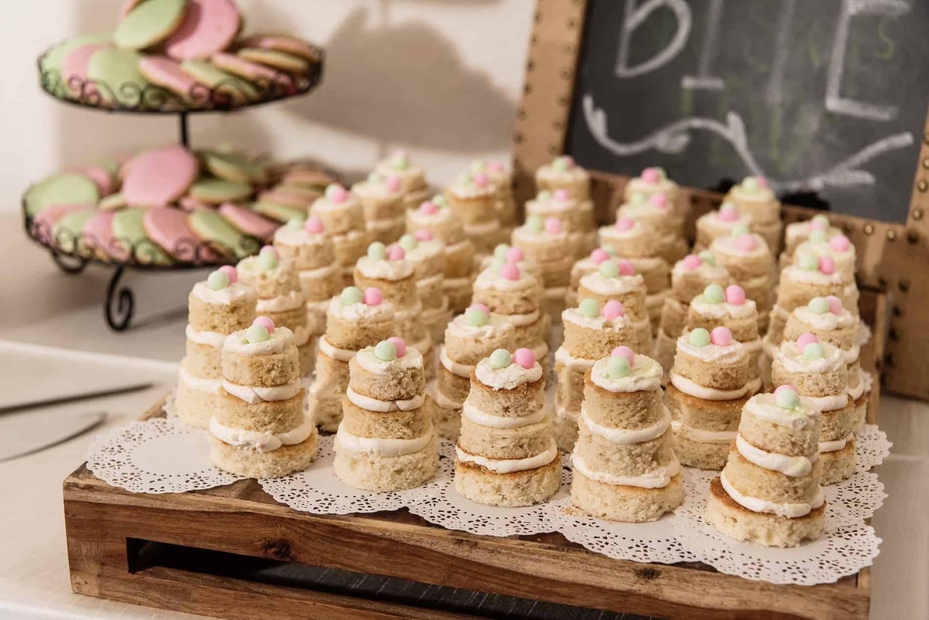 Rustic Dessert Station but at an elegant Wedding Reception
