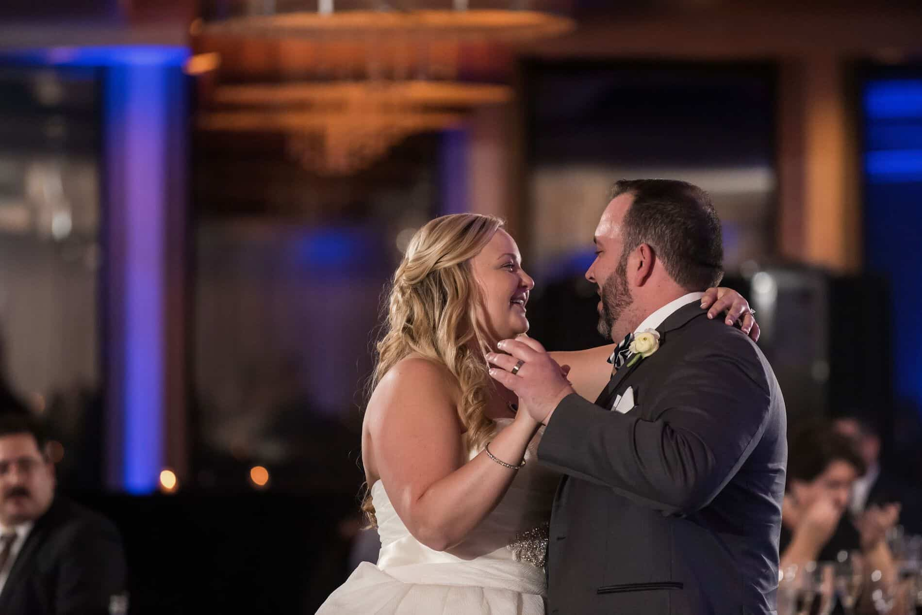 A Bride and Groom have their first dance at the Citrus Club Downtown Orlando