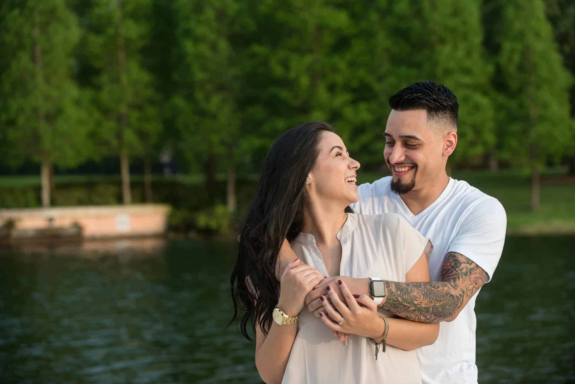 Very Cute Couple during an Engagement Session with their Orlando Wedding Photographers