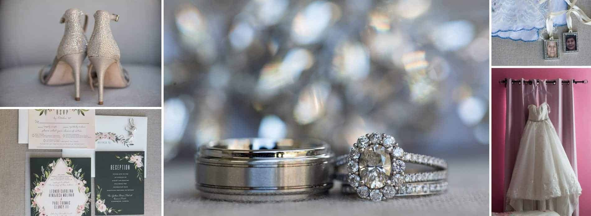 Rings and Detail Shots for a Golden Bear Club Wedding