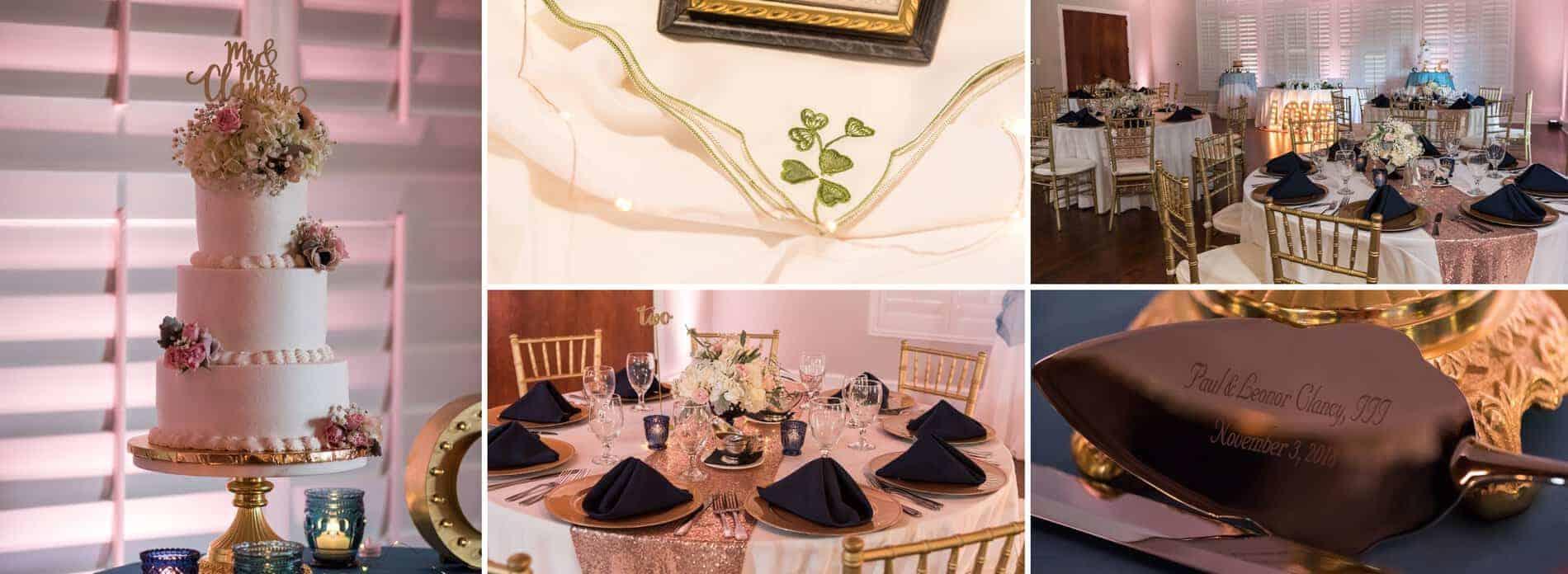 Details at a Golden Bear Wedding Reception