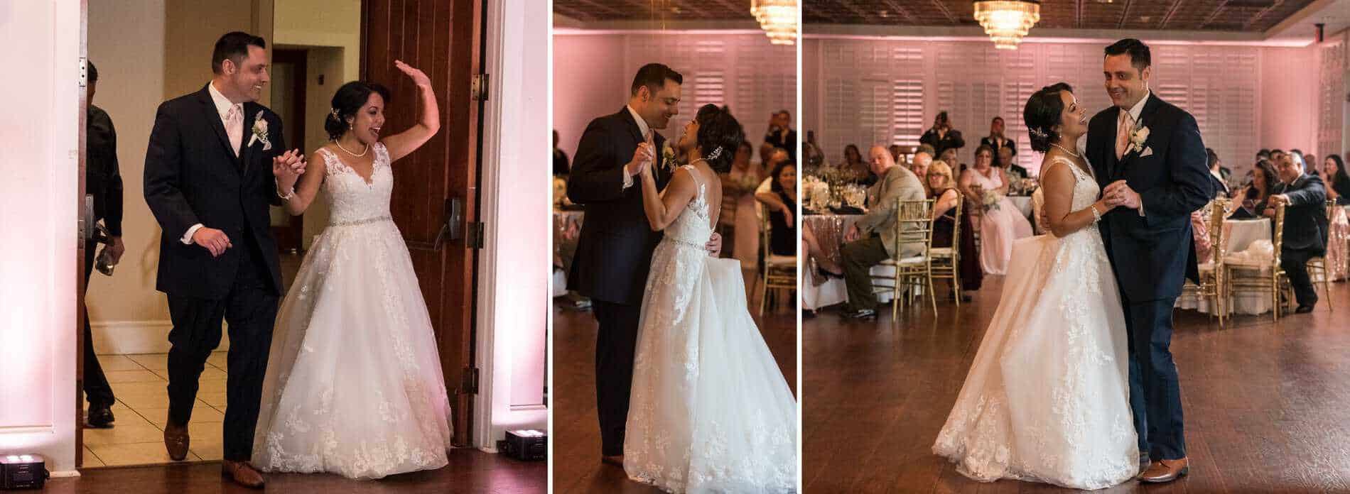 Couple take their first dance at Golden Bear Club