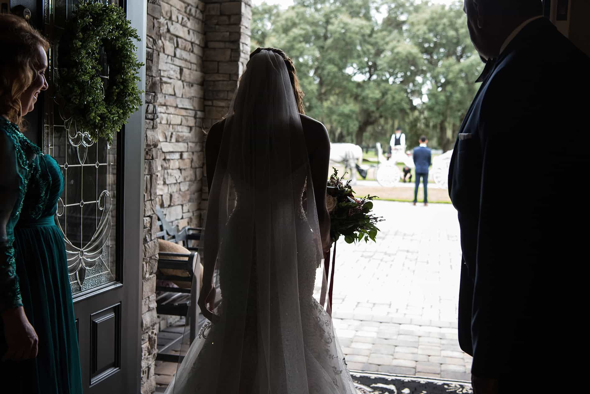 Bride and Groom getting ready for their wedding at a private residence