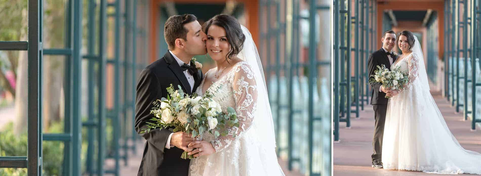 Bride and Groom Portraits at Disney Swan and Dolphin Resort
