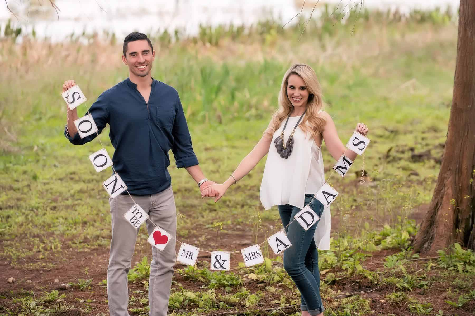 Couple Save the Date Photos at Bill Frederick Park