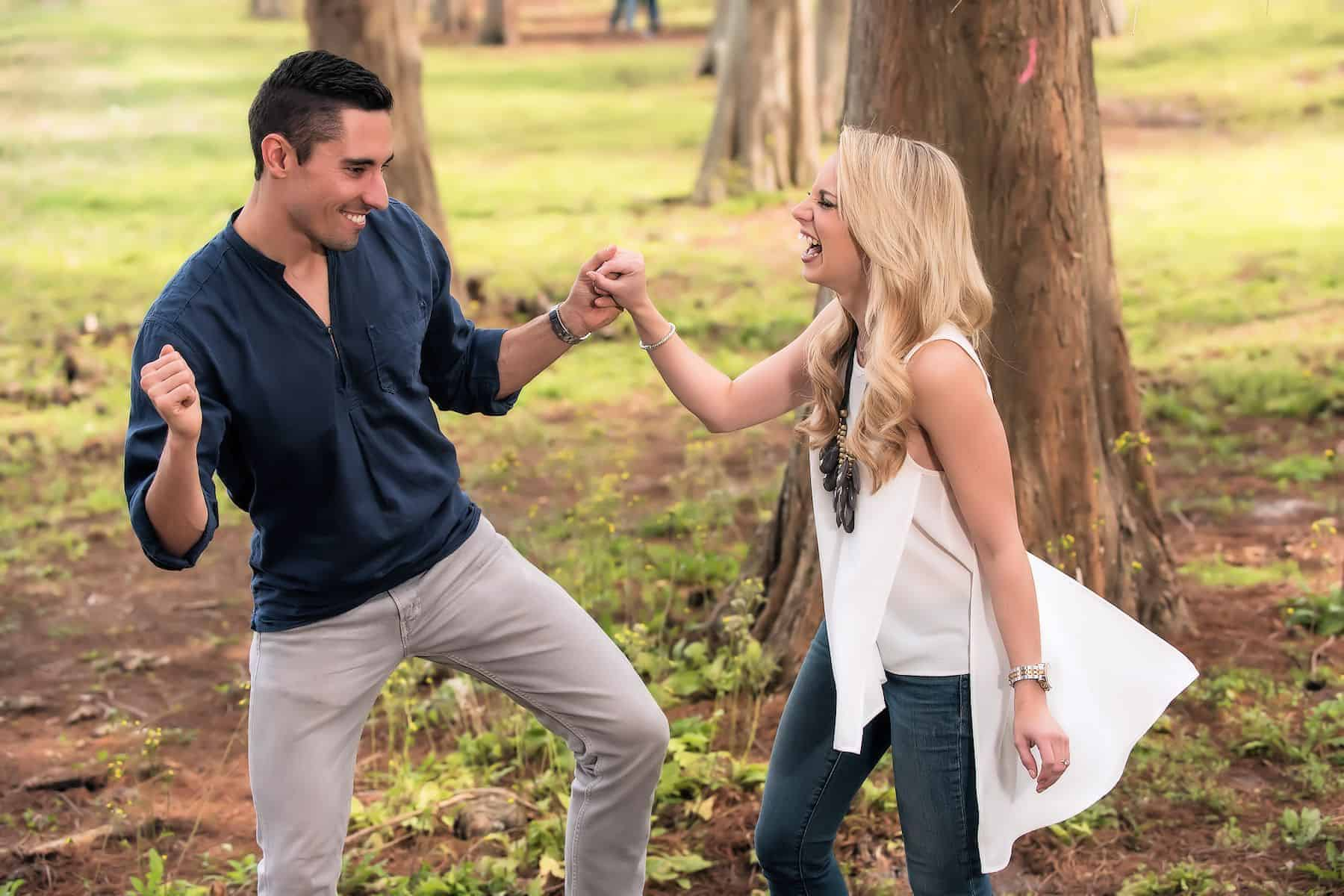 Orlando Park Engagement Photos at Bill Frederick Park engaged couples