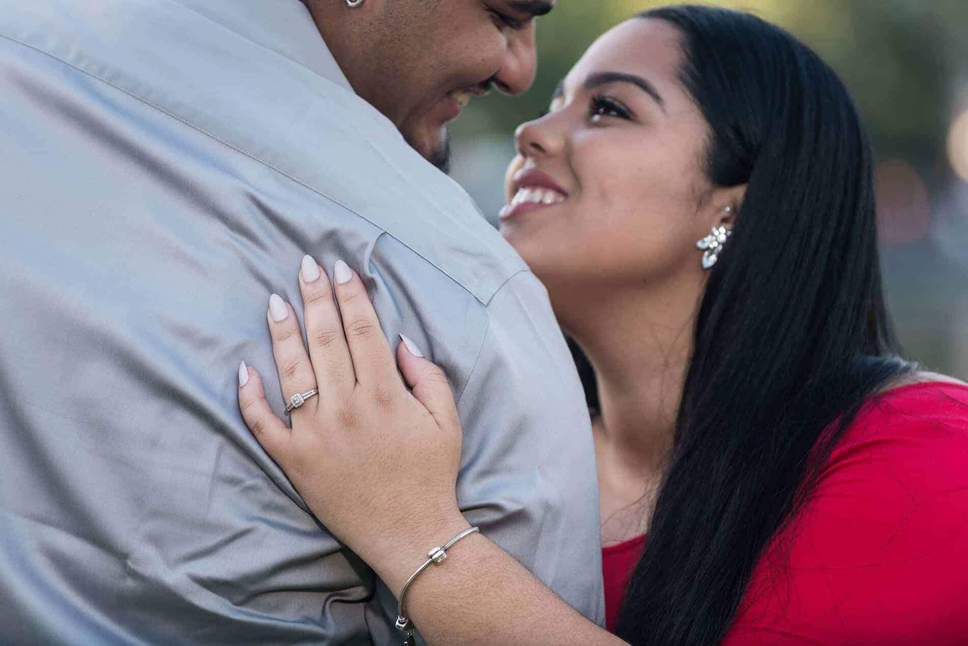 Best Engagement Photo Spots in Orlando Wonderful Couple Enjoying Lake Eola