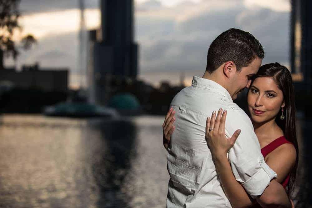 Engaged Couple at Lake Eola