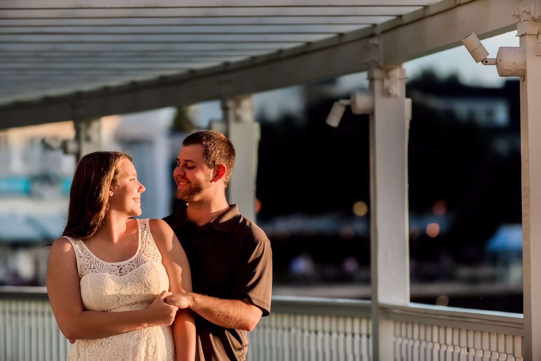 Top Sunrise Sunset Photos Disney Boardwalk Engagement Experience | Kaitlyn and Patrick