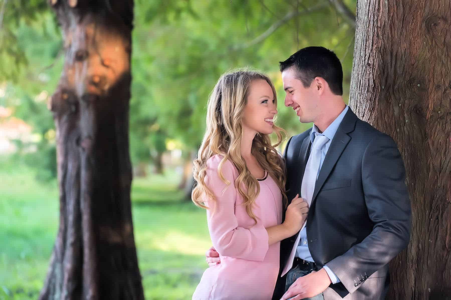 Save the Date photos at a local park