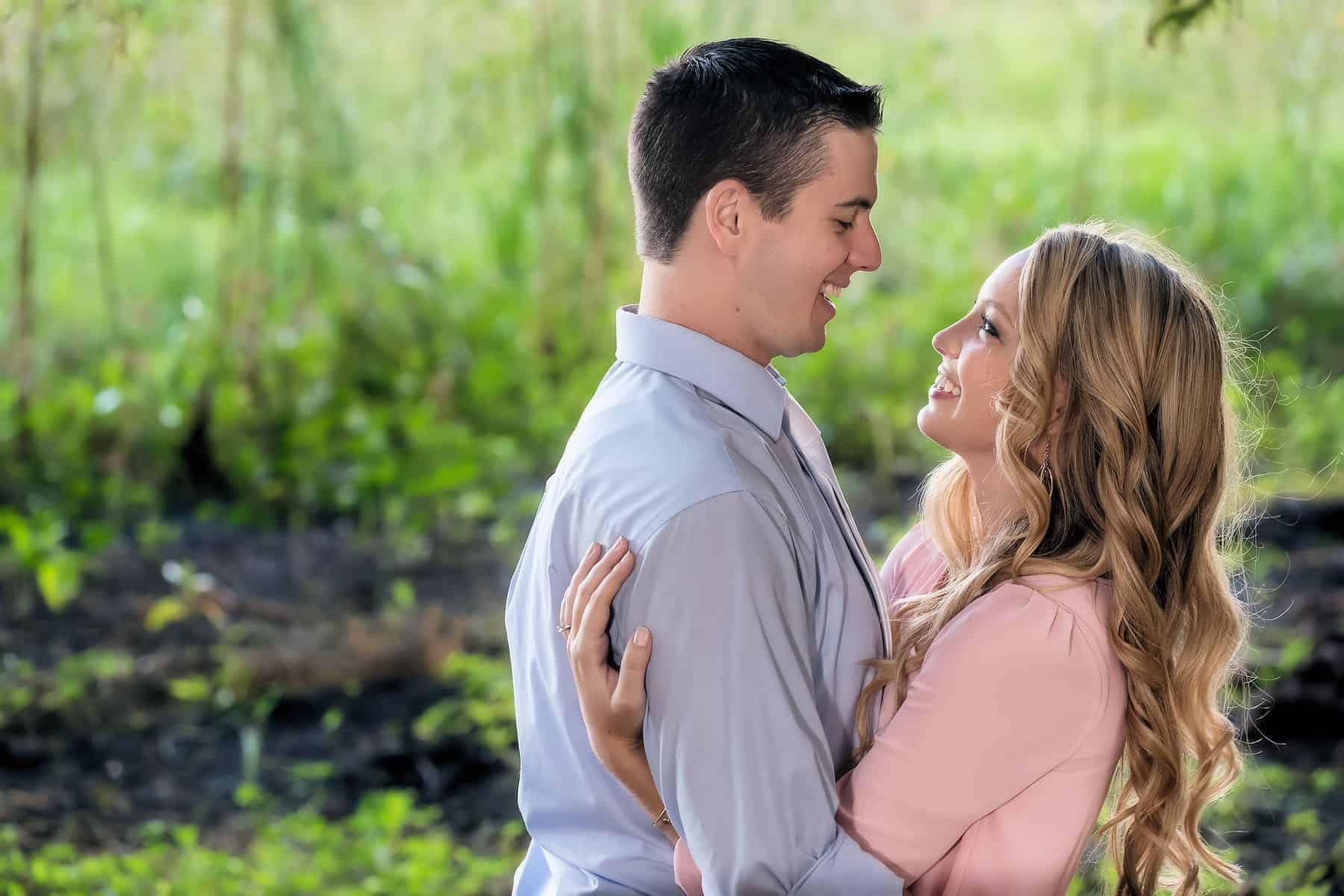 Bill Frederick Engagement Photos for a happy couple