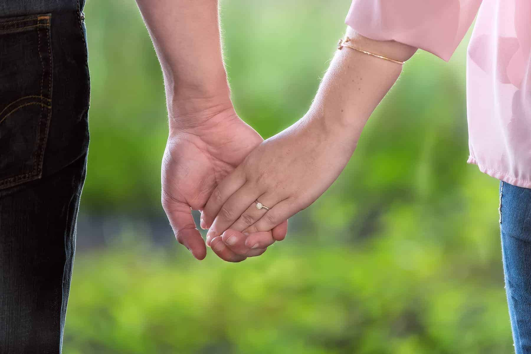 Holding hands in Bill Frederick Park