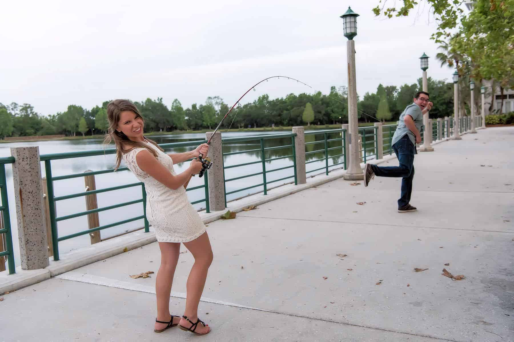 She caught her man in their Celebration Fl Engagement Session