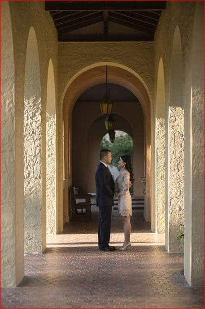 Rollins College Engagement Pictures at Sunset