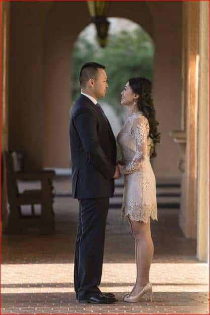Rollins College Wedding Photographer capturing romantic couple