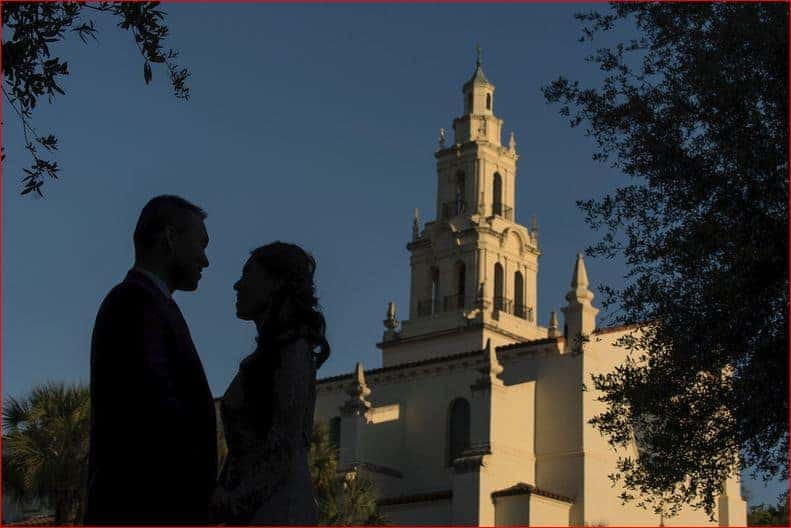 Engagement Pictures at Rollins College commons