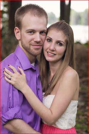 Engagement Portrait in Kraft Azalea Gardens