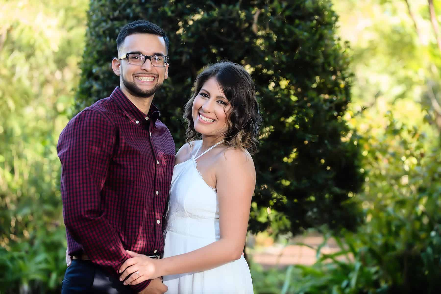 Couples Engagement Session in Leu Gardens