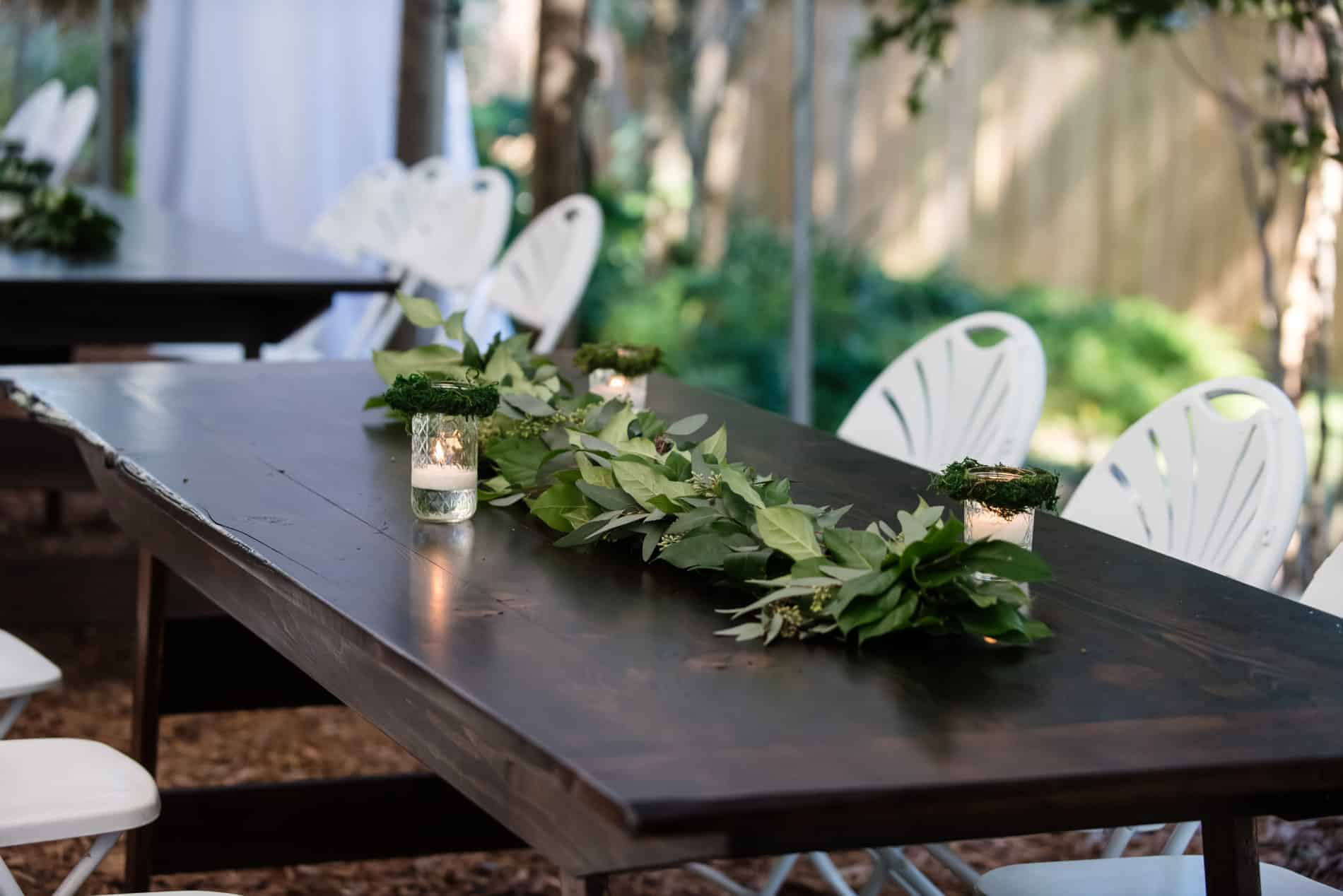 In this case, a simple Centerpieces at Harmony Gardens Fall Wedding