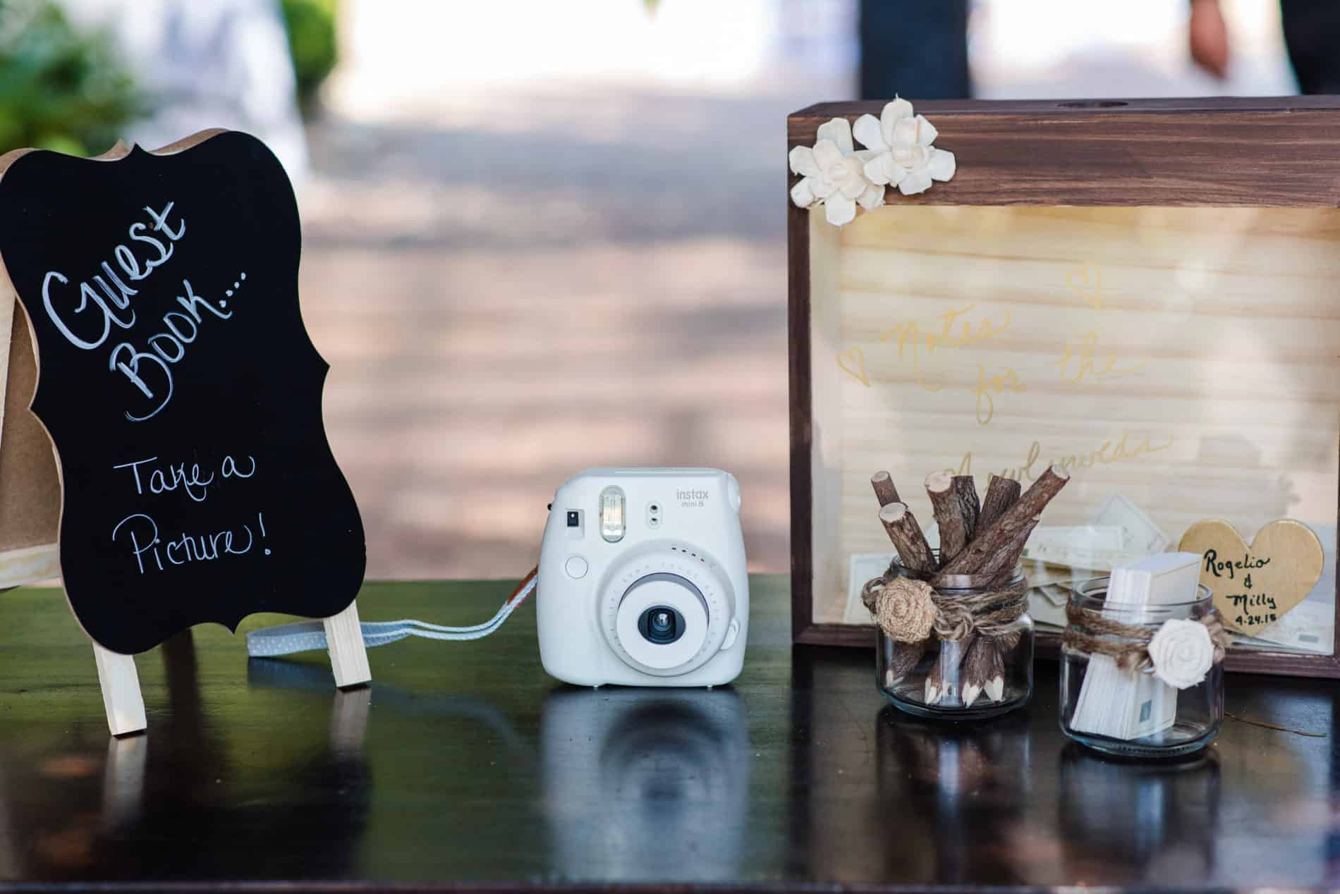 DIY Camera station for Rustic Wedding Themes for fall